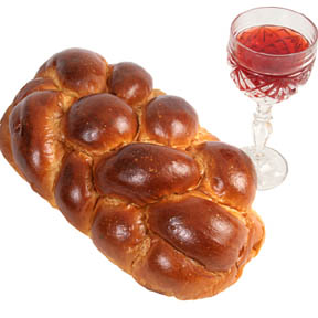 Photo of bread and wine - Copyright Lisa F. Young